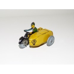 Mettoy AA Motorcycle & Sidecar with Rider Clockwork