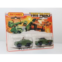 Matchbox Superfast Two Packs TP13 Military Scout & Armoured Car Twin Pack