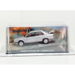 James Bond Car Collection 38 Maserati Biturbo 425 - Licence to Kill & Magazine