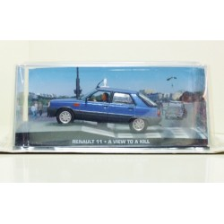 James Bond Car Collection 53 Renault 11 Taxi - A View To A Kill & Magazine