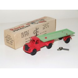 BRIMTOY Pocketoy 9/513 Mechanical Short Wheel Base Lorry & Flat Trailer