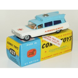 Corgi 437 Superior Ambulance on Cadillac Chassis
