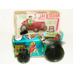 RAMA Toys (India) Jai Kissin Clockwork Tinplate Farm Tractor